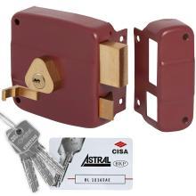 Κλειδαριά κουτιαστή (εξωτερική) με κύλινδρο ASTRAL ασφαλείας CISA 50161.50