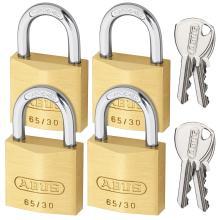 Λουκέτο ίδιο κλειδί ABUS 65/30 Quads ΣΕΤ 4 τεμάχια