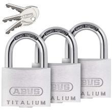 Λουκέτο ίδιο κλειδί ABUS Titalium 727TI/40 | ΣΕΤ 3 τεμάχια
