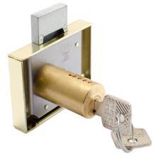 Κλειδαριά κουτιαστή επίπλων Meroni Cas 2B11 Χρυσή | 5 μεγέθη