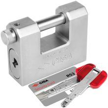 Λουκέτο ατσάλινο τάκου με ελεγχόμενης αντιγραφής κλειδί RS3 CISA 28559