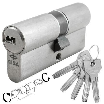 Κύλινδρος ασφαλείας διπλής λειτουργίας νίκελ CISA ASIX 0E301-0