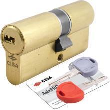 Κύλινδρος (Αφαλός) ασφαλείας CISA ASIX PRO 0E300 SD 30-50mm 5+1 με κλειδί τοποθέτησης | 2 Χρώματα