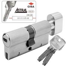 Κύλινδρος (Αφαλός) υψηλής ασφάλειας με πόμολο CISA ASTRAL S 0A3S7 νίκελ