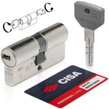 Κύλινδρος (Αφαλός) υψηλής ασφάλειας διπλής λειτουργίας νίκελ CISA ASIX P8 0Q311