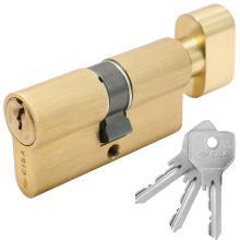 Κύλινδρος (Αφαλός) με πόμολο CISA 0G302 30-30mm Χρυσός | 3 Τύποι Πόμολου