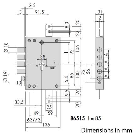 Κλειδαριά ασφαλείας θωρακισμένης CISA + Κύλινδρος (Αφαλός) ασφαλείας AP4S + CISA Defender 06490-1