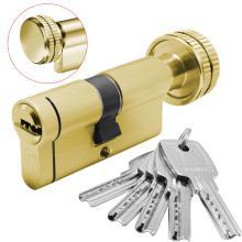 Κύλινδρος (Αφαλός) ασφαλείας με πόμολο & προστασία και μετά το σπάσιμο DOMUS ECON 30-30mm | Brass