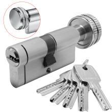 Κύλινδρος (Αφαλός) ασφαλείας με πόμολο & προστασία και μετά το σπάσιμο DOMUS ECON 30-53mm | Nickel