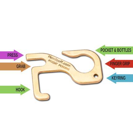 Κλειδί Μπρελόκ υγιεινής πολλαπλών χρήσεων HANDZOFF SILCA AVZ1114-4