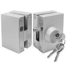 Κλειδαριά ασφαλείας γυάλινης πόρτας, με κύλινδρο & αντίκρισμα πρόσθετη INAL 201.01