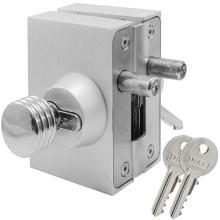 Κλειδαριά Πρόσθετη Ασφαλείας γυάλινης πόρτας, με κύλινδρο & πόμολο INAL 207.01