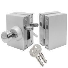 Κλειδαριά Πρόσθετη Ασφαλείας γυάλινης πόρτας, με κύλινδρο & πόμολο & αντίκρισμα  INAL 207.01