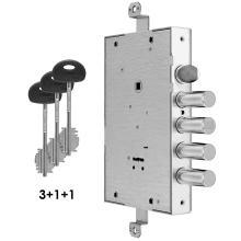 Κλειδαριά θωρακισμένης πόρτας, με κλειδί χρηματοκιβωτίου FIAM 608DF για αντικατάσταση CISA