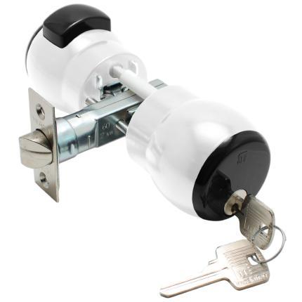 Κλειδαριά πομόλου με κλειδί για ξενοδοχειακές μονάδες ή γραφεία MERONI Nova N14 | 5 χρώματα-0