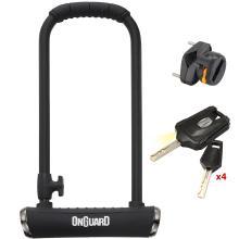Κλειδαριά U πέταλο μοτοποδηλάτου με κλειδί ONGUARD Pitbull LS 8002X