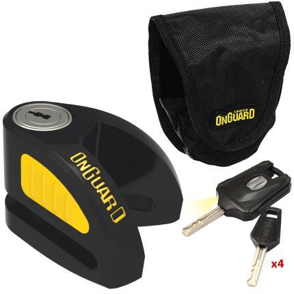 Κλειδαριά δισκόφρενου μηχανής ONGUARD Boxer 8051B   Μαύρο-Κίτρινο-0