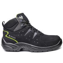 Παπούτσια δερμάτινα εργασίας BASE HARLEM TOP S1P SRC | Μαύρο/Πράσινο