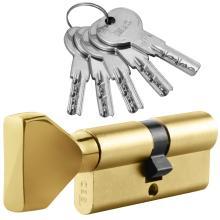 Κύλινδρος (Αφαλός) ασφαλείας με Πόμολο ISEO R6 | Χρυσό & Νίκελ