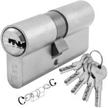 Κύλινδρος (Αφαλός) ασφαλείας διπλής λειτουργίας νίκελ ISEO R6