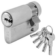 Κύλινδρος (Αφαλός) Μισός Ασφαλείας για Γυάλινες πόρτες ISEO R6 | χρυσό & νίκελ