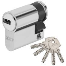 Κύλινδρος (Αφαλός) Μισός Ασφαλείας για Γυάλινες πόρτες ABUS D6 | 30-10mm Νίκελ