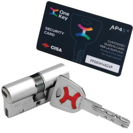 Κλειδαριά ασφαλείας θωρακισμένης CISA + Κύλινδρος (Αφαλός) ασφαλείας AP4S + CISA Defender 06490-2