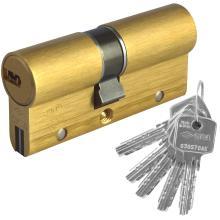 Κύλινδρος διπλής ενεργείας υψηλής ασφάλειας CISA ASTRAL S 0A3S1 χρυσό & νίκελ