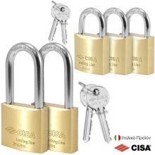 Λουκέτα Στρατού με Ίδιο Κλειδί CISA 21010/11.50 | ΣΕΤ 5 τεμάχια