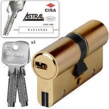 Κύλινδρος (Αφαλός) CISA ASTRAL S 0A3S0 υψηλής ασφάλειας άθραυστος χρυσό & νίκελ