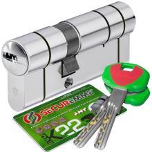 Κύλινδρος (Αφαλός) ασφαλείας, ελεγχόμενη αντιγραφή κλειδιού με brake secure SECUREMME EVO K22 30-50mm 5+1 με κλειδί τοποθέτησης