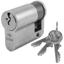 Κύλινδρος (Αφαλός) Μισός για Γυάλινες πόρτες CISA locking line 08030 σε χρυσό & νίκελ