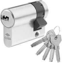Κύλινδρος ασφαλείας Μισός για Γυάλινες πόρτες CISA ASIX 0E304 Νίκελ