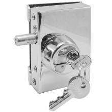 Κλειδαριά INOX ασφαλείας γυάλινης πόρτας, με κύλινδρο πρόσθετη INAL 201.13