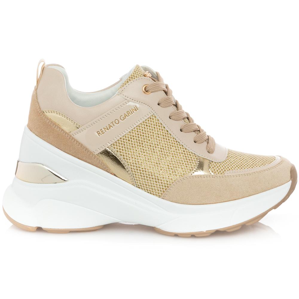 Γυναικείο Sneaker μπέζ Renato Garini Μ119R791474Κ