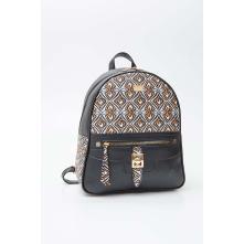 Fragola FE01 Τσάντα πλάτης μαύρη εμπριμέ