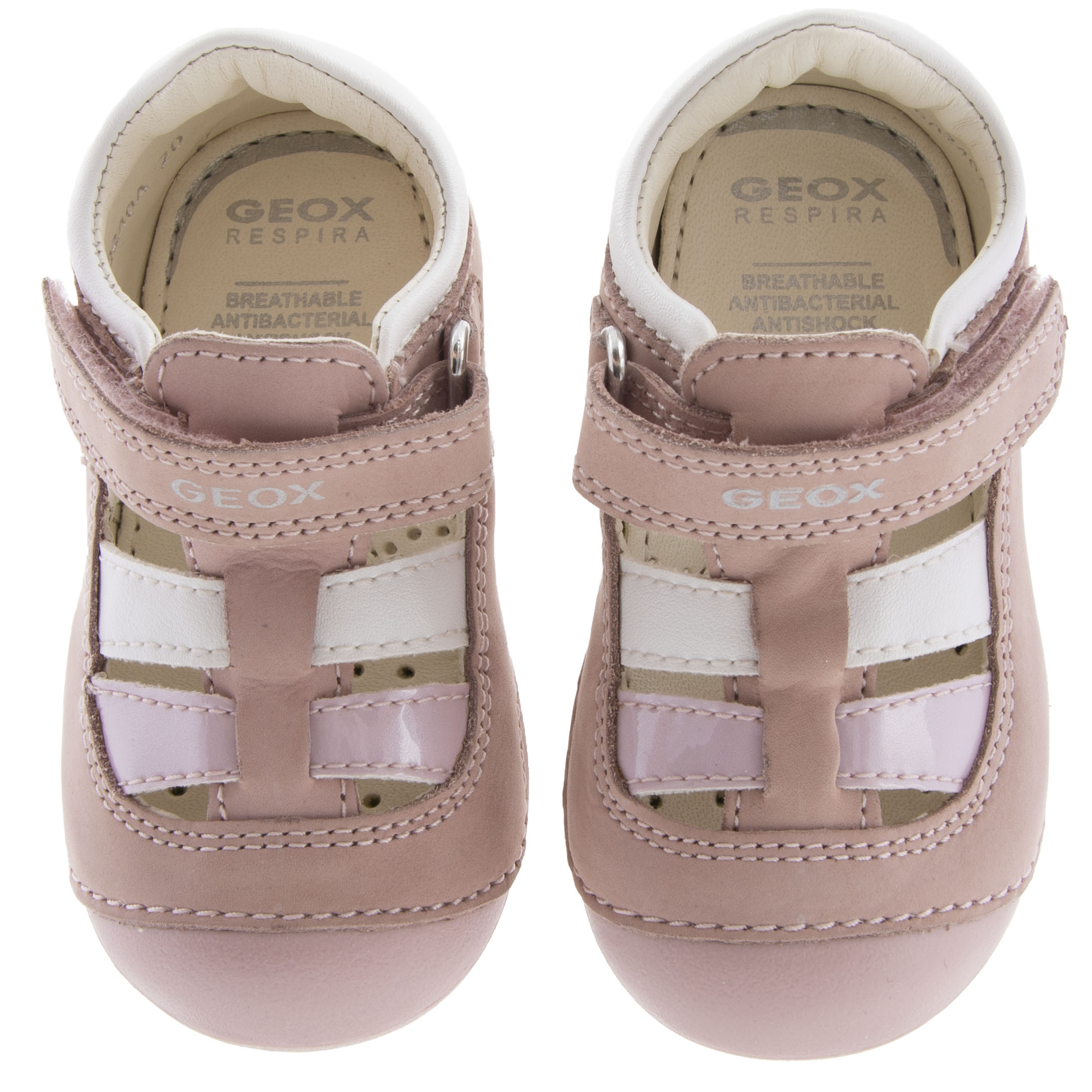Κορίτσι παπουτσοπέδιλο δερμα ροζ GEOX  Β0240Α 032ΗΙ C8010