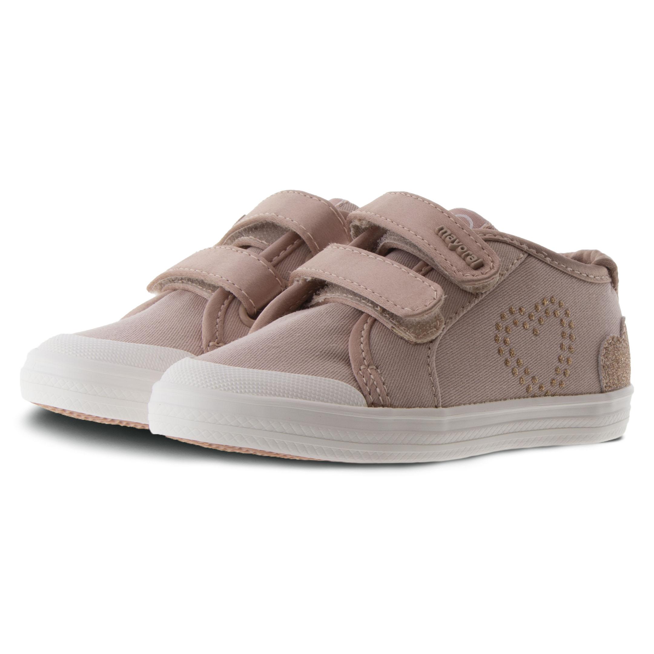 Κορίτσι πάνινο Casual Sneaker αυτοκόλλητα nude Mayoral  20-41140-060