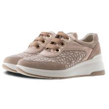 Γυναικείο Sneaker Δέρμα Μπέζ IMAC  506790 2