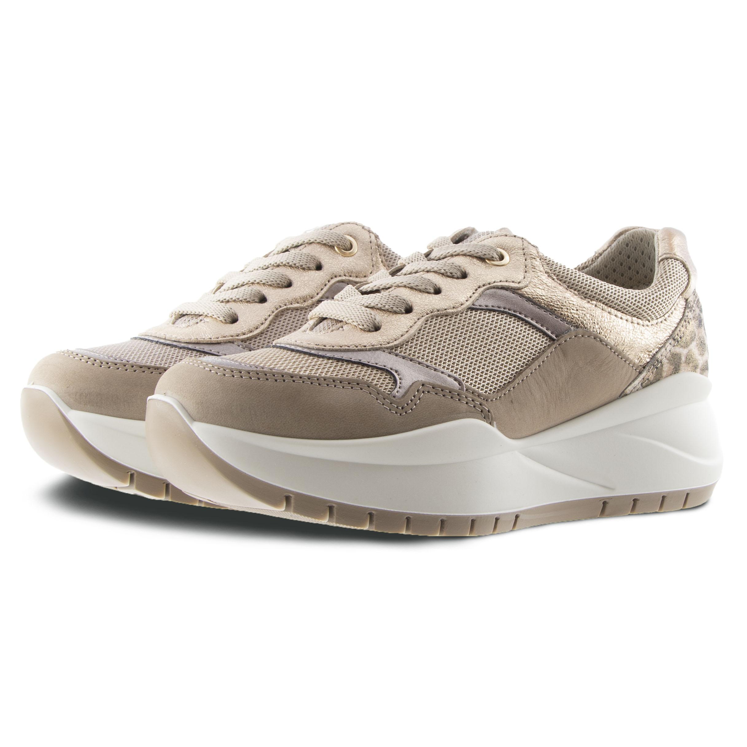 Γυναικείο Sneaker Δέρμα Μπέζ IMAC 507550
