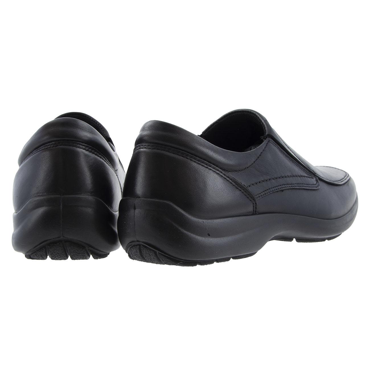 Ανδρικό παπούτσι παντοφλέ δέρμα μαύρο IMAC 500820