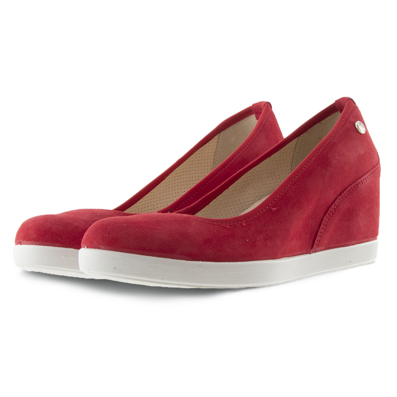 Γυναικεία πλατφόρμα δέρμα κόκκινο IMAC  505671