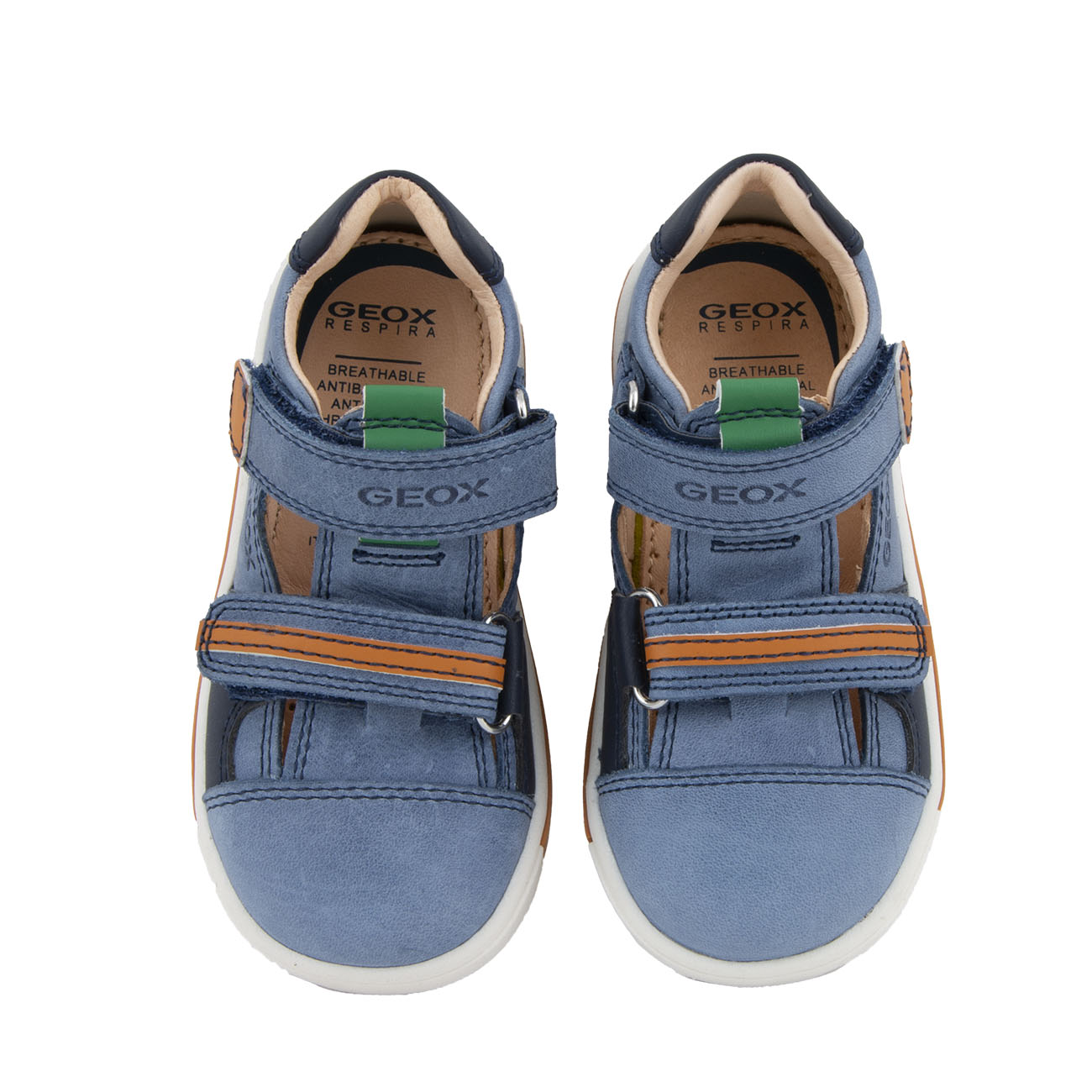 Αγόρι παπουτσοπέδιλο μπλέ αυτοκόλλητα Geox  Β0243C 0CL54 C4Μ2Τ
