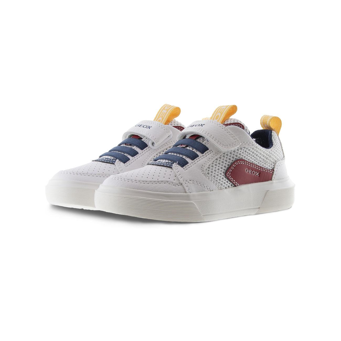 Αγόρι Sneaker άσπρο αυτοκόλλητο Geox J02ΑWC 014ΒU C0050