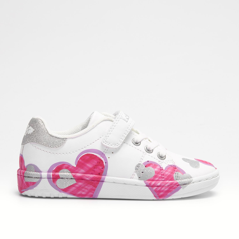 Κορίτσι Sneaker λευκό αυτοκόλλητο καρδιές  Lelli Kelly LΚ1896