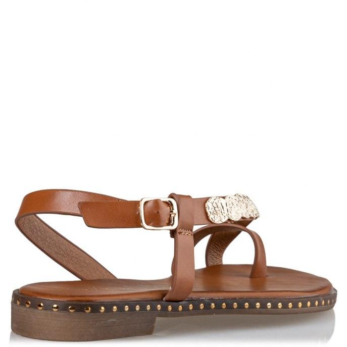 Γυναικείο πέδιλο χρυσά φύλλα Envie Shoes V96-11068