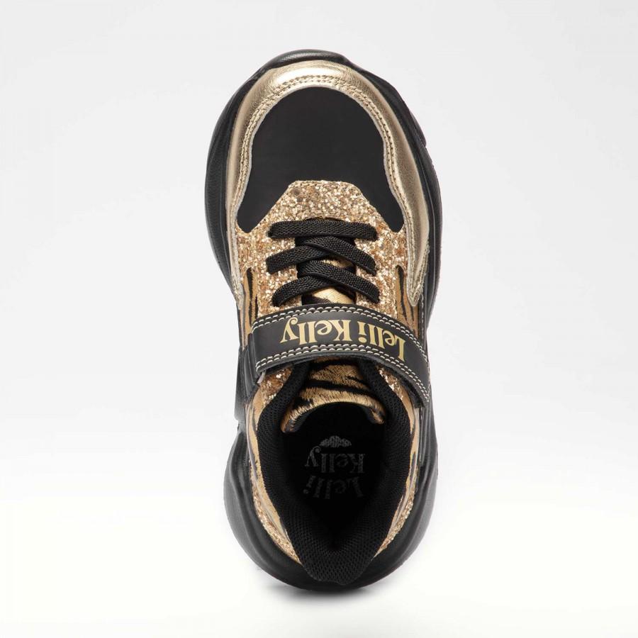Κορίτσι Sneaker μαύρο χρυσό Lelli Kelly LK5878