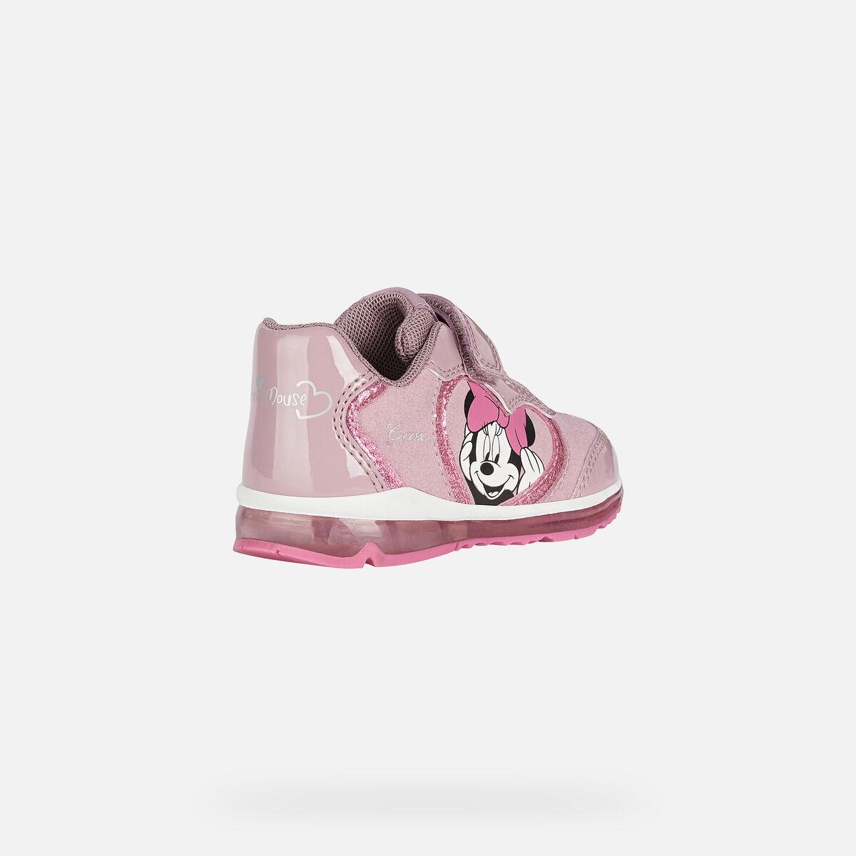 Αθλιτικό bebe παπούτσι Disney Minnie ροζ με φωτάκια GEOX Β0485Β 002ΑU C8011
