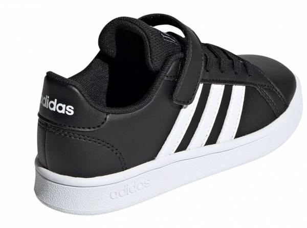 Αγόρι αθλητικό grand court addidas μαύρο λευκές ρίγες δερματίνι.ΕF0108