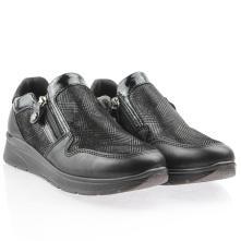 Γυναικείο δερμάτινο ανατομικό sneaker casual με φερμουάρ IMAC 607960 2